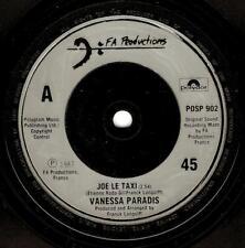 VANESSA PARADIS Joe Le Taxi Vinyl Record 7 Inch FA Productions POSP 902 1988
