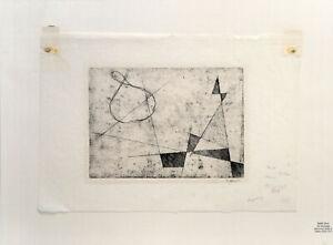 Rudolf Jahns: Komposition No. 54. [19]62. Signierte Original-Japan-Aqua.