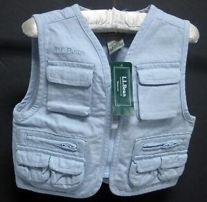 L.L. Bean First Cast Vest Size 6 -12mo. NWT
