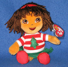 TY HOLIDAY DORA the EXPLORER BEANIE BABY - MINT with MINT TAG