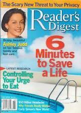 Magazine Reader's Digest July 2004 Ashley Judd Carly Simon's New World 6 Mins to