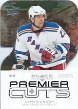 (HCW) 2008-09 Black Diamond Premier Die-Cut CHRIS DRURY Upper Deck Rangers 00633