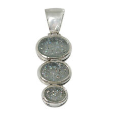 Sterling Silver Pendant w/ 2,000 Year Old Antique Roman Glass (BTS-NP1151/RG)