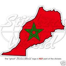 MAROKKO Marokkanische Landkarte-Flagge Fahne Vinyl Sticker Aufkleber 110mm