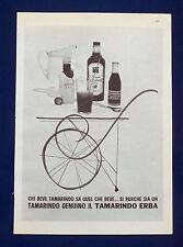 A501-Advertising Pubblicità-1960-TAMARINDO ERBA