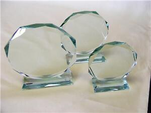 OUTSTANDING Personalised JADE CRYSTAL Glass AWARD Gift