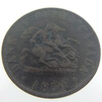1850 Bank Token One Half Penny Bank of Upper Canada Circulated Medal Struck T305