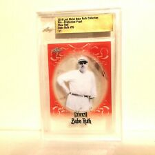 Babe Ruth 2019 Leaf Metal 1/1 Pre Production Proof #26 Clear Red BGS Slabbed