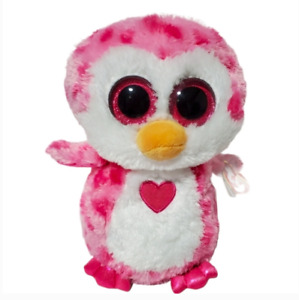 "TY Beanie Boo Juliet Owl plush 8.5"" tall Stuffed Animal plush pink girl toy  3+"