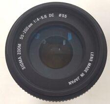 Sigma Objektiv AF 55-200mm 1:4-5,6 DC ∅55  für Nikon