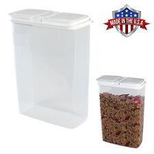 Large 4 Qt Cereal, Snack Keeper Food Storage Dispenser Container, Flip Top Lid
