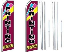 Printing Services Swooper Flag with Complete Hybrid Pole set - Pack of 2