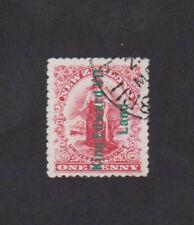 King Edward VII Land ovptd on a NZ Penny Universal, Shackleton Exp