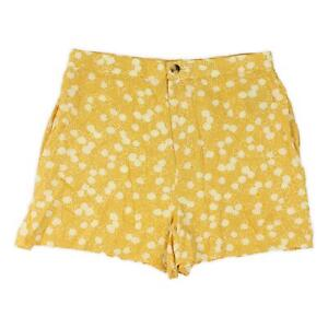Amuse Society Womens Dolci Woven Shorts Gold Floral XS New