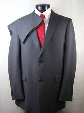 Tommy Hilfiger Suit Mens Gray Striped 2 Button 100% Wool
