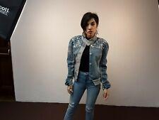Rocawear Womens Size XLarge Denim Jean Jacket  Harley Davidson logo
