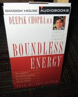 BOUNDLESS ENERGY CASSETTE AUDIOBOOK, DEEPAK CHOPRA, OVERCOME CHRONIC FATIGUE