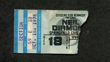 Original 1976 Neil Diamond concert ticket stub Springfield Longfellow Serenade