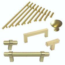 Knob Pull Handle Kitchen/Bath Cabinet Hardware Matte Gold Brass Collection Kpt
