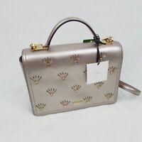 Kate Spade Patterson Drive Embellished Metallic Leather Crossbody Handbag
