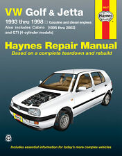 Repair Manual fits 1993-2002 Volkswagen Cabrio Golf,Jetta  HAYNES