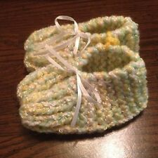 Baby Booties, New, hand knit , soft and warm acrylic yarn
