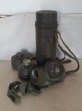 Original Gasmaske Bundeswehr M54 in Tornister Behälter Hammerschlag 60er Jahre
