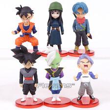 "6pcs Set Dragon Ball Z Gohan Trunks Goku Zamasu 2.8-3.1"" Figure Toy New in Box"