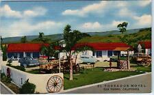SAN YSIDRO, CA California  EL TOREADOR MOTEL  c1950s Cars Roadside LinenPostcard