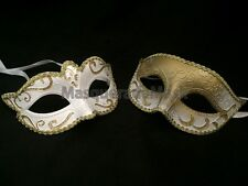 White  Couple Masquerade Ball Costume Bachelor wedding party bridal shower party