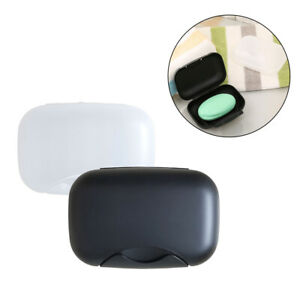 Portable Soap Dish Box Holder Case Container Lid Sealed Shower Travel Camping