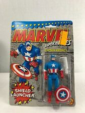 Captain America 1990 Marvel Superheroes action figure with shield launcher