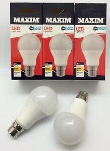 3 x 100 watt bayonet light bulbs = 13 Watt LED GLS B22 Maxim A+ Warm White Lamps
