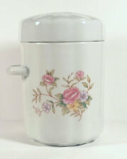 Canister Pink Floral White Jar FTD FTDA Porcelain 1988 Bedroom Decor Flower Tea
