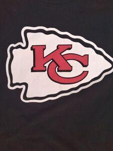 KANSAS CITY CHIEFS Black Out Logo T-Shirt '47 - XXL