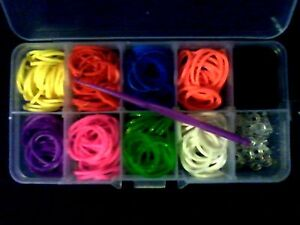 Colourful Loom Band Kit, App 300pcs Assorted Colour Rubber Bands, S-clips, Hook