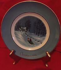 "Wedgwood/Avon 1976 Christmas Plate ""Bringing Home The Tree"" 3rd Ed"