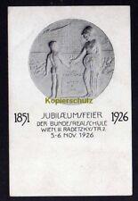 120358 AK Wien 1926 Künstlerkarte 25 Jahre Bundesrealschule Radetzkystr. 2 Autog