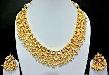 Ethnic   Kundan Pearl drops  Choker Bridal  Jewellery Set