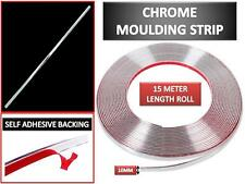 Silver 10mm*15m  Car Chrome Moulding Trim Strip Self Adhesive Fit Most Car Decor