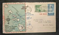 1934 Honolulu Hawaii to El Paso Texas Airmail First Flight Cover