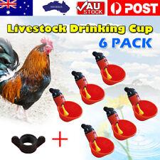 6pcs/24pcs Automatic Cups Water Feeder Drinker Chicken Waterer Poultry Chook OZ