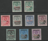 261 ASCENSION 1922 set of 9 opt'd SPECIMEN - only about 400 produced