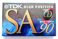 TDK SA90 HIGH BIAS IEC II/TYPE II BLANK AUDIO CASSETTE TAPE - JAPAN 1994