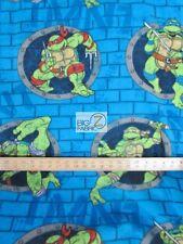 "NINJA TURTLES POLAR FLEECE FABRIC Turtle Power By Springs Creative 60"" WIDTH 763"