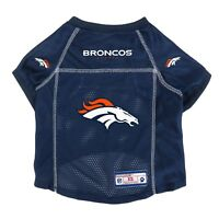 Denver Broncos LEP NFL Dog Mesh Jersey Officially Licensed Blue, Sizes XS-XL
