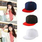 Fashion Cool Baseball Cap Plain Two Tone Snapback Adjustable Hat Flat Gift Pop*