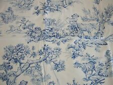 """BLUE TOILE ~ 37"""" SWAG VALANCE Lined ~ ROD POCKET by COUNTRY CURTAINS ~ Beautiful"""