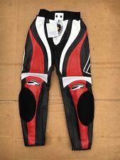 "RICHA Ladies Race Leather Motorcycle / Motorbike Trousers UK 10 (28"" waist) #LB1"