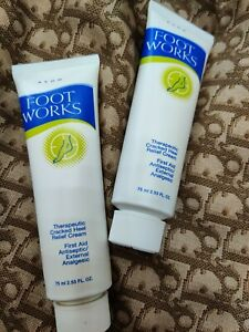 Avon (Qty 2) Foot Works Therapeutic Cracked Heel Relief Cream 2.5 fl oz